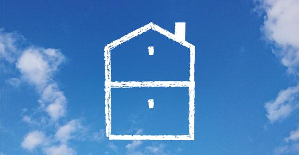 典型的な上下分離型の二世帯住宅